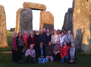 A group of Spiritual Companions have a private access visit to Stonehenge after having spent the day together at Avebury (May 2012).